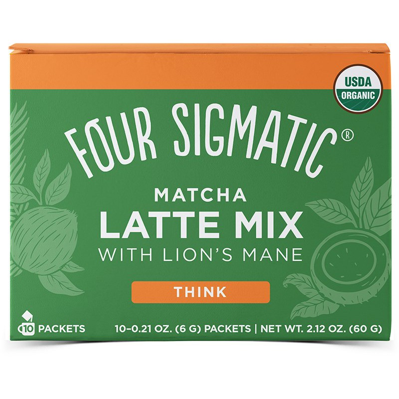 Mushroom matcha latte mix 10 ps, Four Sigmatic
