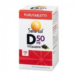Sana-sol D-vitamiini, Purutabletti 50 ug