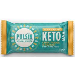 Keto proteiinipatukka, suklaafudge & maapähkinä 50 g, Pulsin
