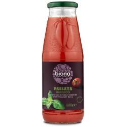 Paseerattu tomaatti, basilika 680 g, Biona