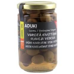Vihreä oliivi, vedessä 310 g, Luomu