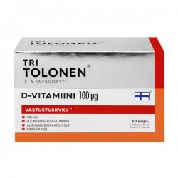 Tri Tolonen D-vitamiini 100ug, 60 kaps
