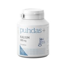 Kalium 300 mg, 60 kaps, Puhdas+