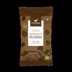 Raw chocolate raisins 80g,...