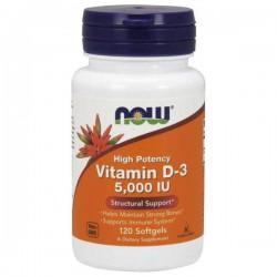 NOW Foods D3-vitamiini 125 ug, 120 kaps