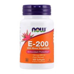 NOW Foods E-200, 100 kaps