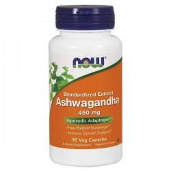 NOW Foods Ashwagandha 450mg, 90 kaps
