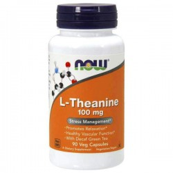 Now Foods L-Theanine 500 mg, 90 kaps