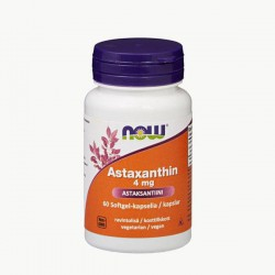 NOW Foods Astaxanthin 4mg, 60 kaps