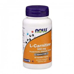NOW Foods L-Carnitine 500mg, 60 kaps