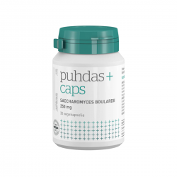 Saccharomyces boulardii 250mg, 60 kaps, Puhdas+