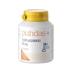 Tuplasinkki 25 mg, 60 kaps, Puhdas+