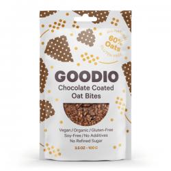 Suklaapäällysteinen Kaurasnack, Goodio, 100g