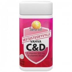 Sana-sol Vahva Vahva C+D-vitamiini, 120 tabl
