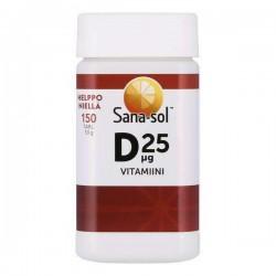 Sana-sol D-vitamiini, 25 ug 150 tabl