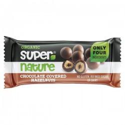 Suklaa-Hasselpähkinät 40g, Luomu, Super Nature