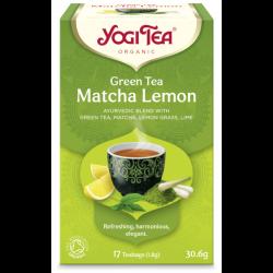 Green Matcha Lemon tee 17 kpl, YogiTea