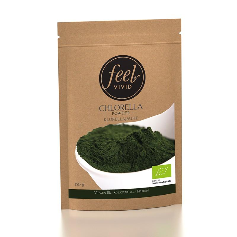 Klorellajauhe, Luomu 150 g