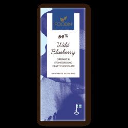 Rå choklad, 54% blåbär, 40...