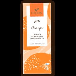 Raw chocolate 70% Orange,...